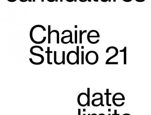 21/03/19 – La nouvelle chaire Studio 21 recrute un designer