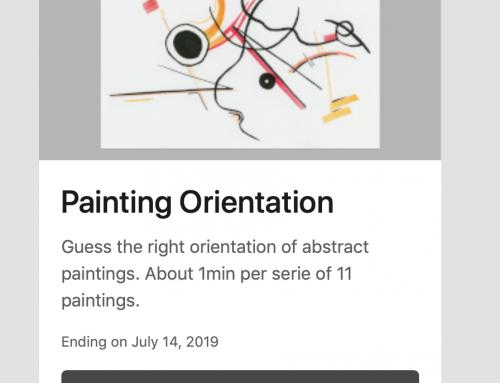 27/05/19 – Participer en ligne à deux expériences de Pierre Lelièvre sur la peinture abstraite